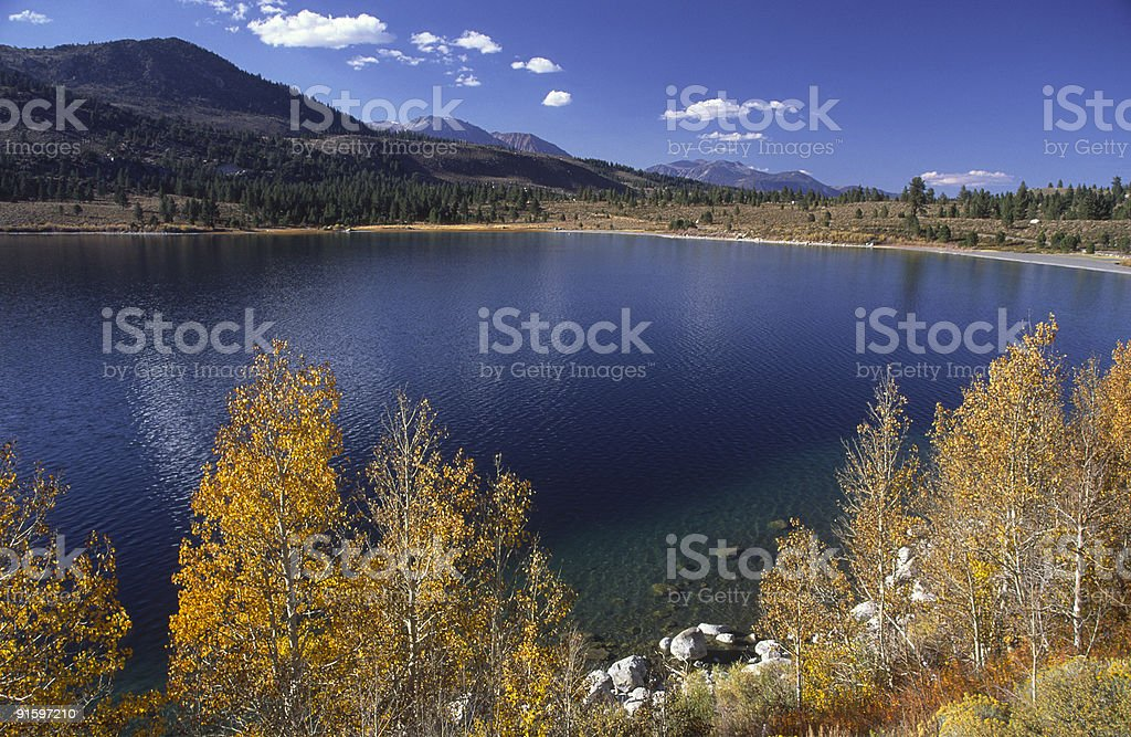 Autumn at June Lake in Eastern Sierra Nevada stock photo