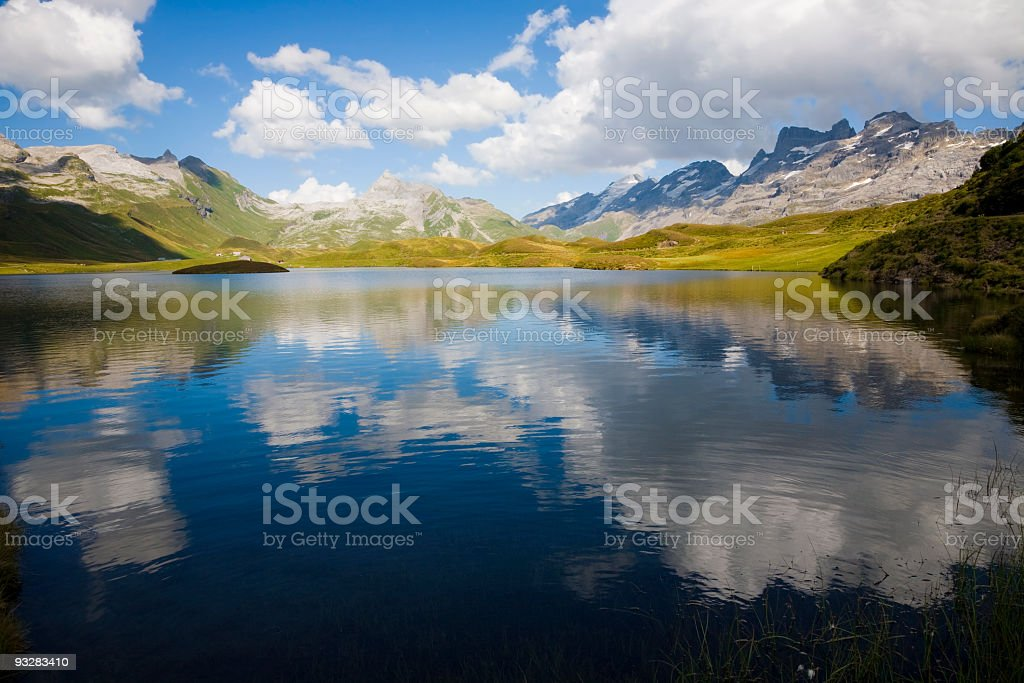 Herbst am Tannensee stock photo