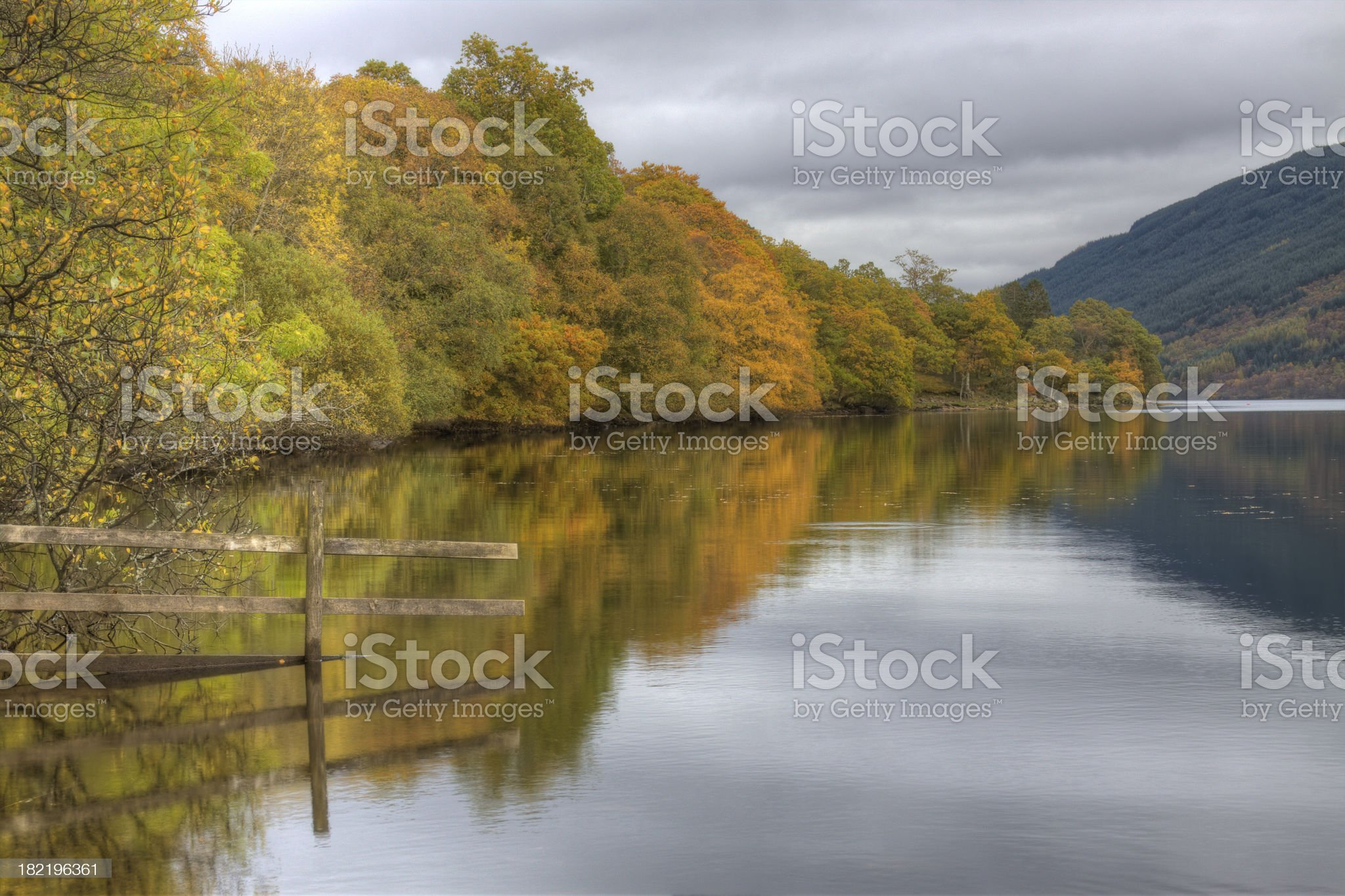Autumn at Loch Voil. royalty-free stock photo