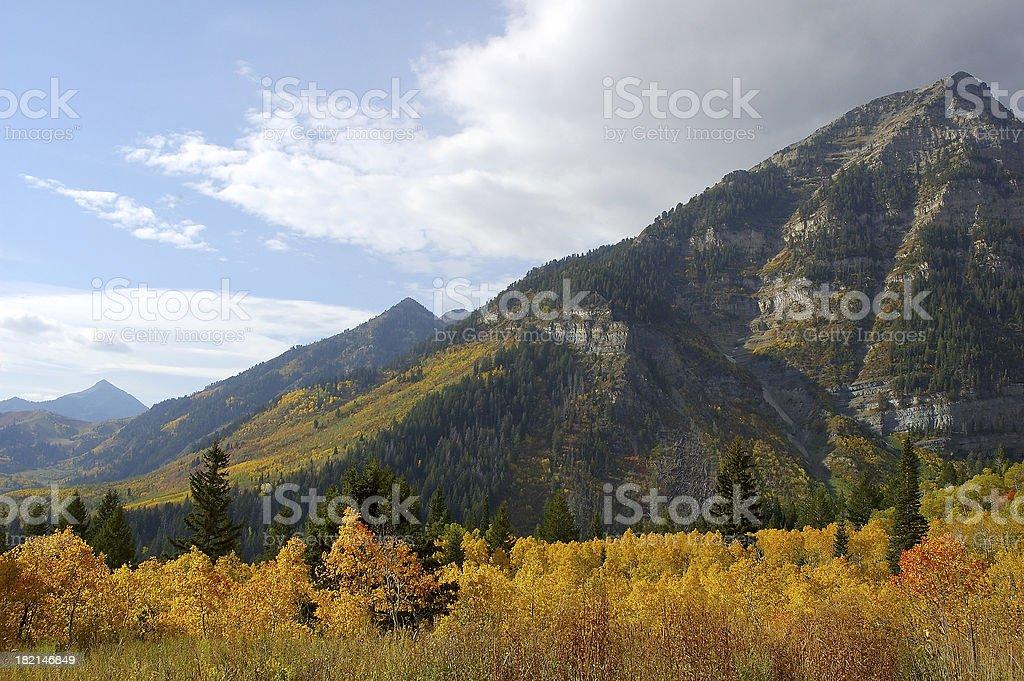 Autumn at Sundance stock photo