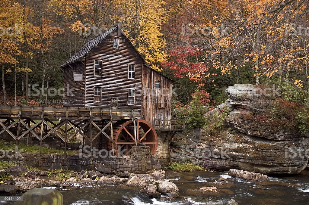 Autumn at the Grist Mill royalty-free stock photo