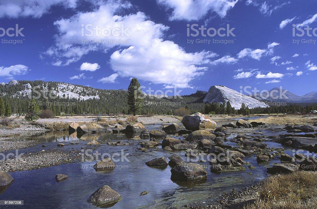 Autumn at Tuolumne Meadows in Yosemite stock photo
