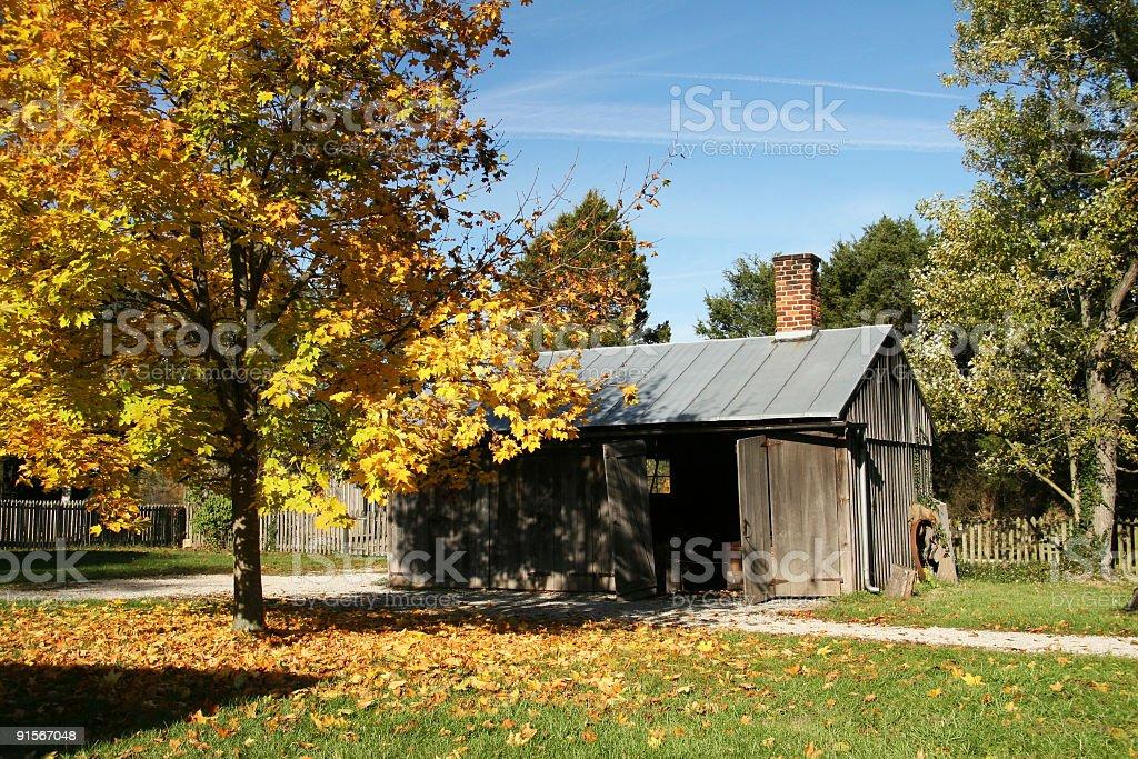 Autumn Barn, Huber Heights, Dayton, Ohio stock photo