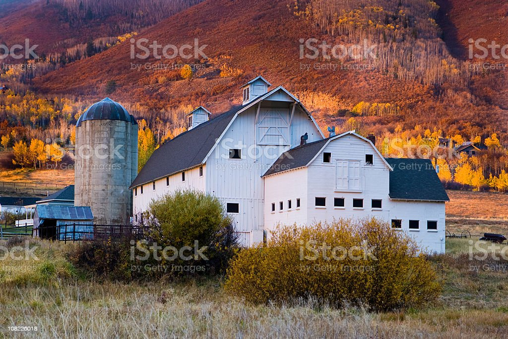 Autumn Barn stock photo
