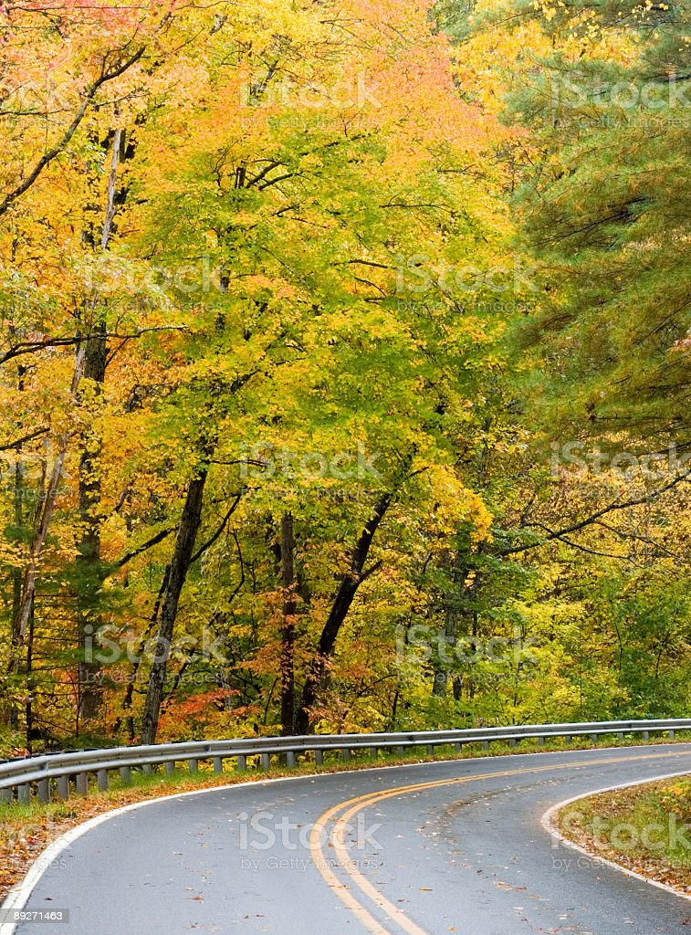 Autumn Beauty: Scenic Highway royalty-free stock photo