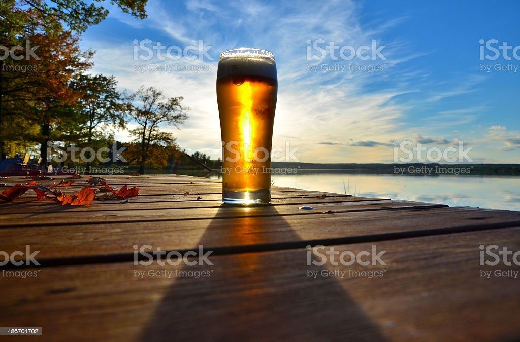autumn beer stock photo