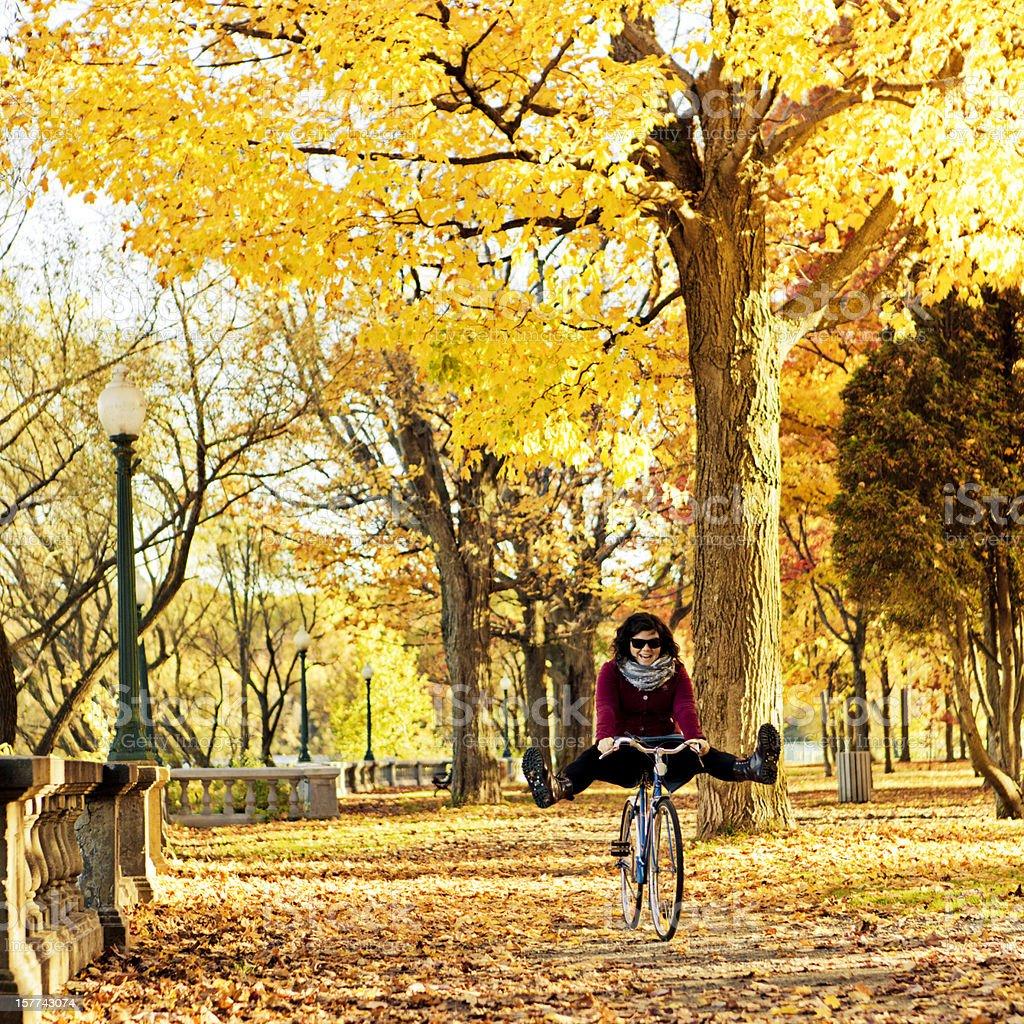 Autumn Bicycle Ride royalty-free stock photo