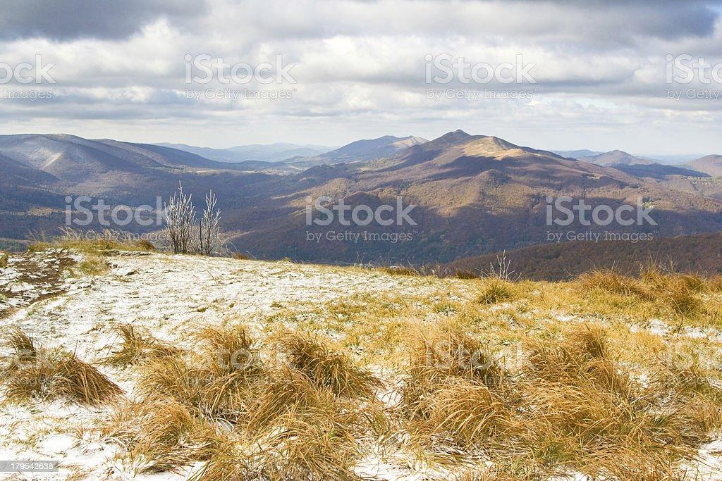 Autumn, Bieszczady mountains royalty-free stock photo