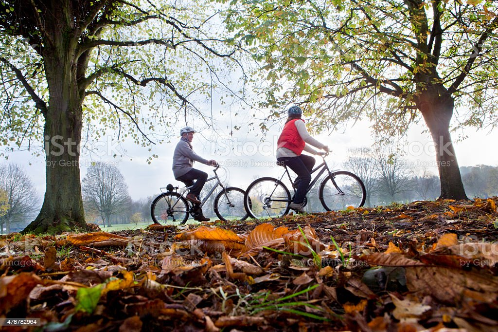 Autumn Bike Ride stock photo