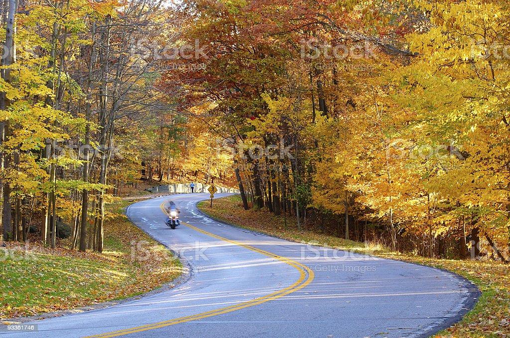Autumn biker royalty-free stock photo
