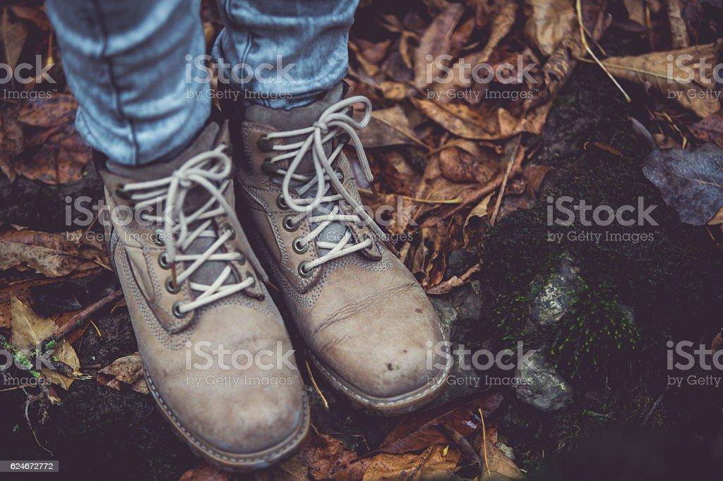 Autumn boots stock photo