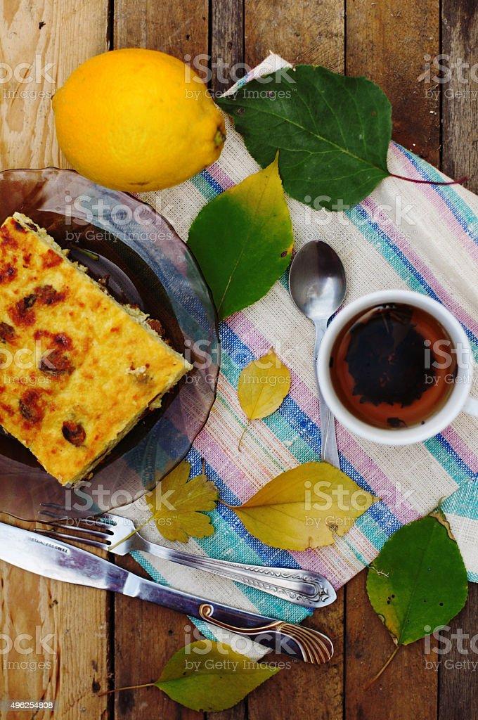 autumn breakfast royalty-free stock photo
