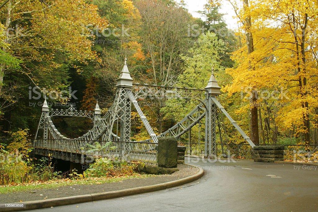 Autumn Bridge 1 - Youngstown, Ohio stock photo
