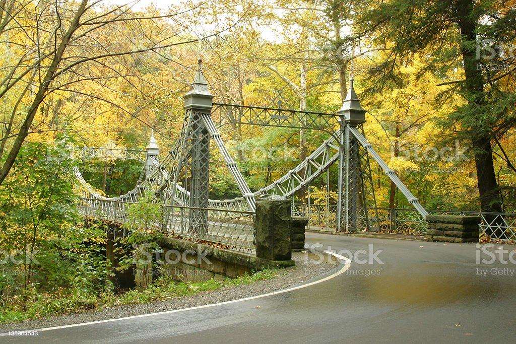 Autumn Bridge 2 - Youngstown, Ohio royalty-free stock photo