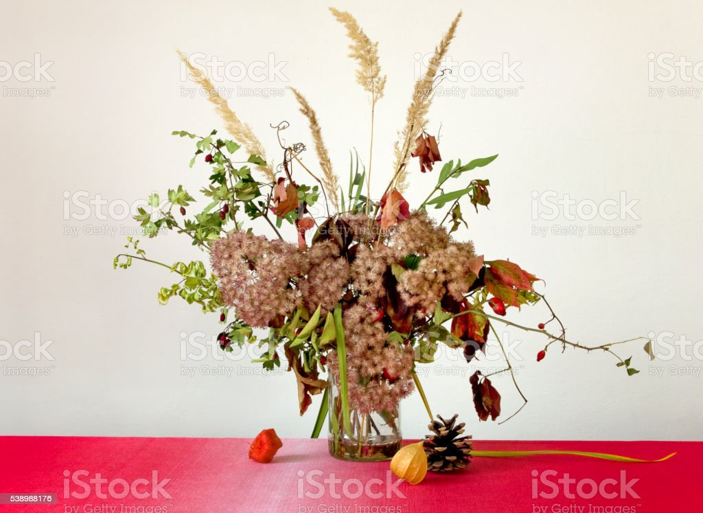 Autumn bunch of flowers royalty-free stock photo