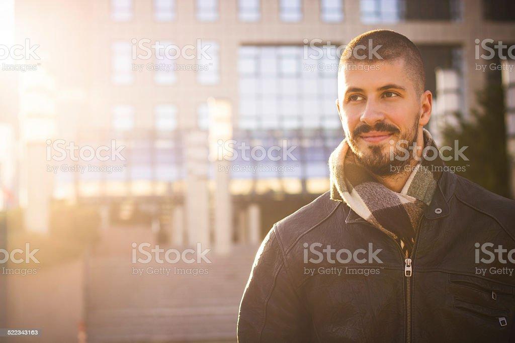 Autumn Businessman stock photo