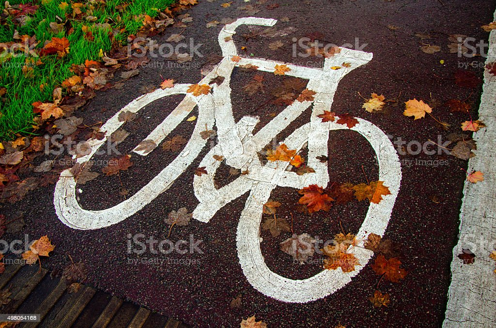 Autumn by bike stock photo
