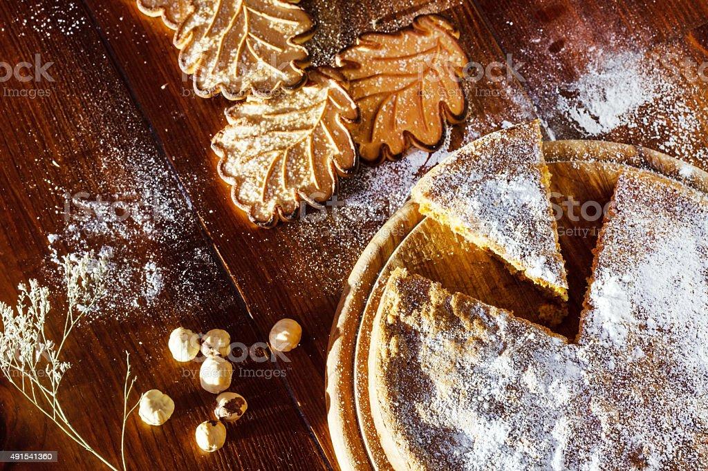 autumn cake stock photo