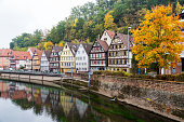 Autumn Calw city in Germany
