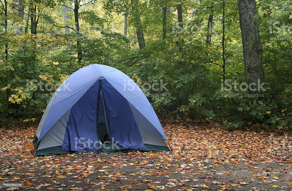 Autumn Camping stock photo