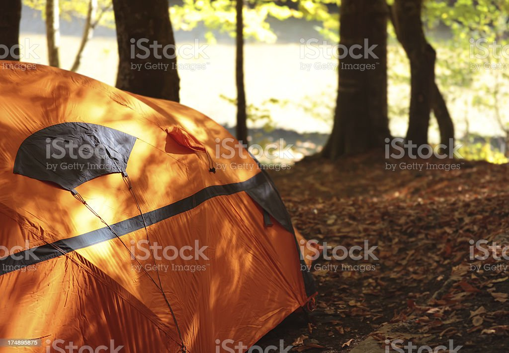 Autumn Camping royalty-free stock photo