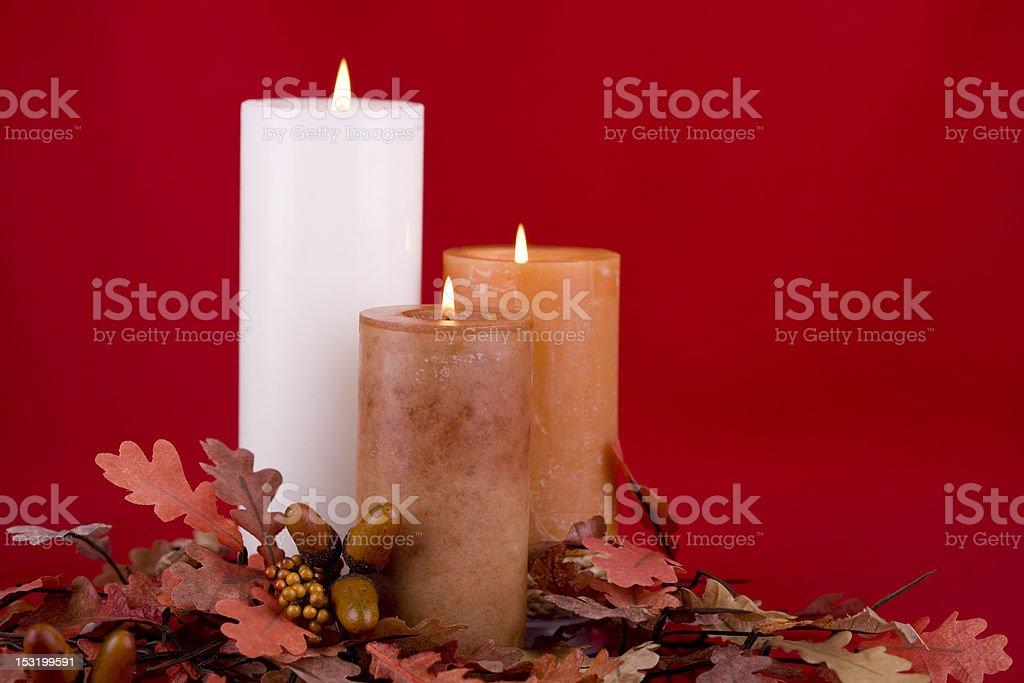 Autumn Candle  (XXL) royalty-free stock photo