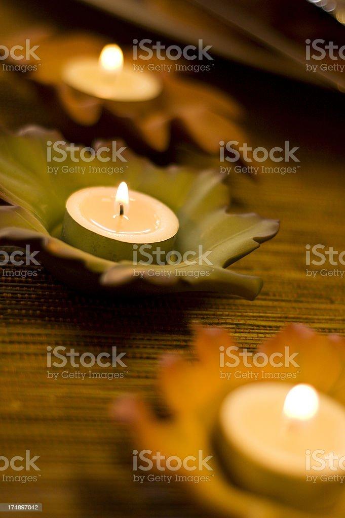 Autumn Candles stock photo