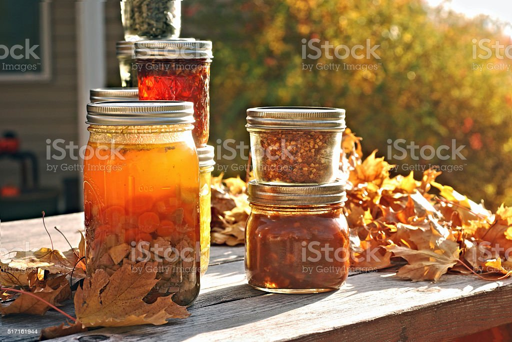Autumn Canning stock photo