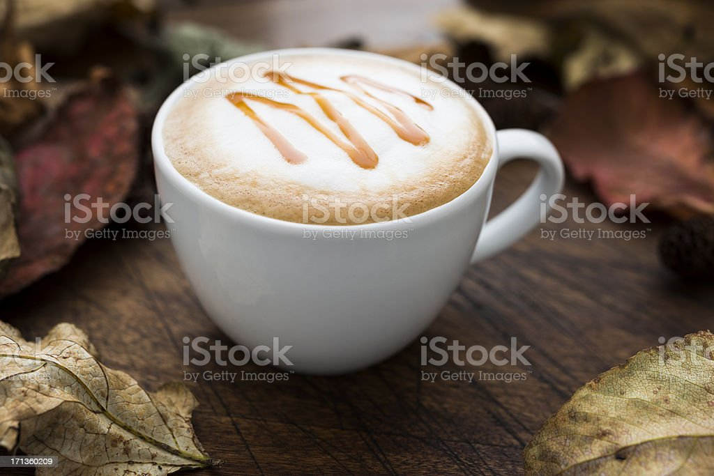 Autumn Caramel Coffee stock photo