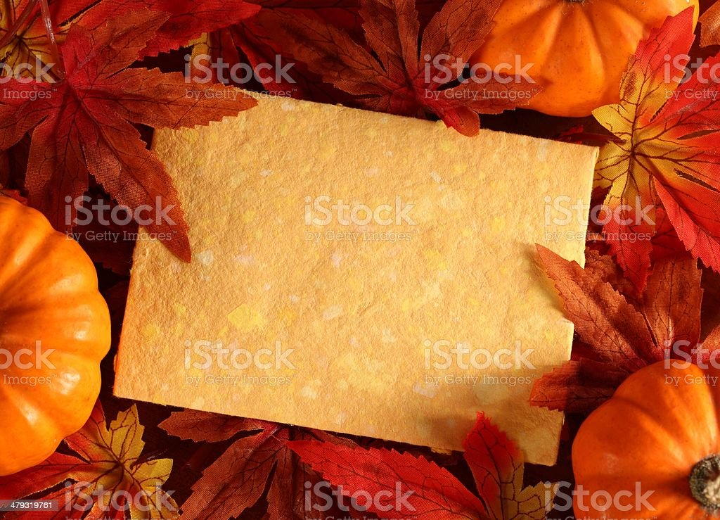 Autumn card royalty-free stock photo