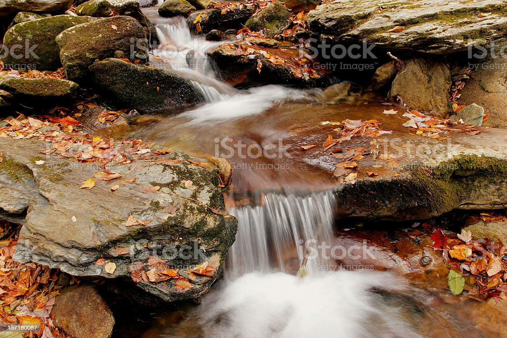 Autumn Cascade royalty-free stock photo