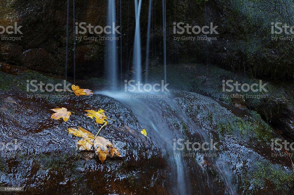 autumn cascade royalty-free stock photo