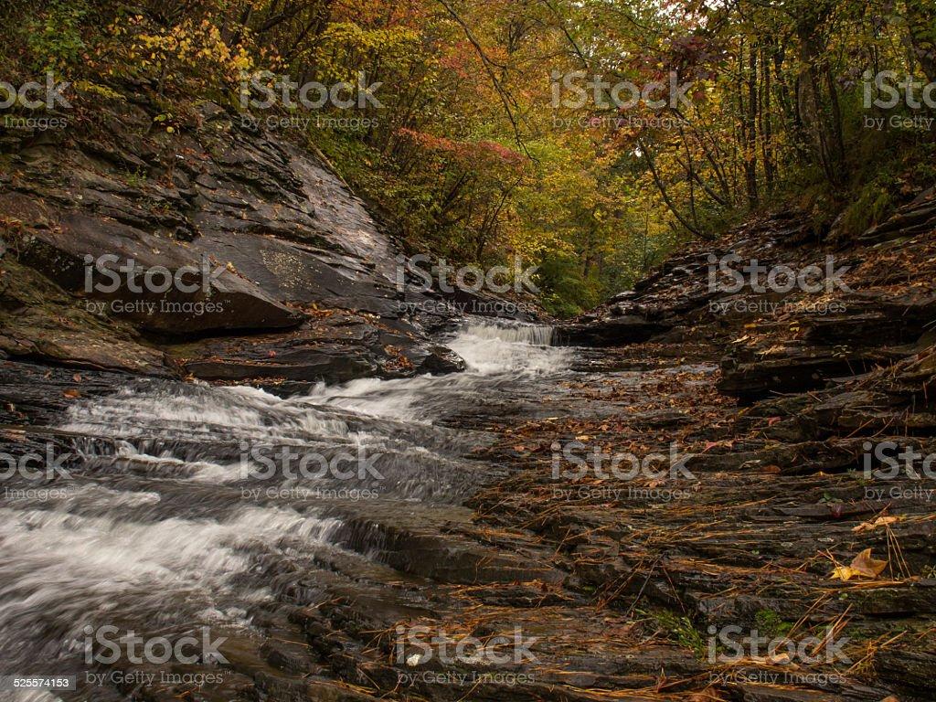 Autumn Cascade stock photo