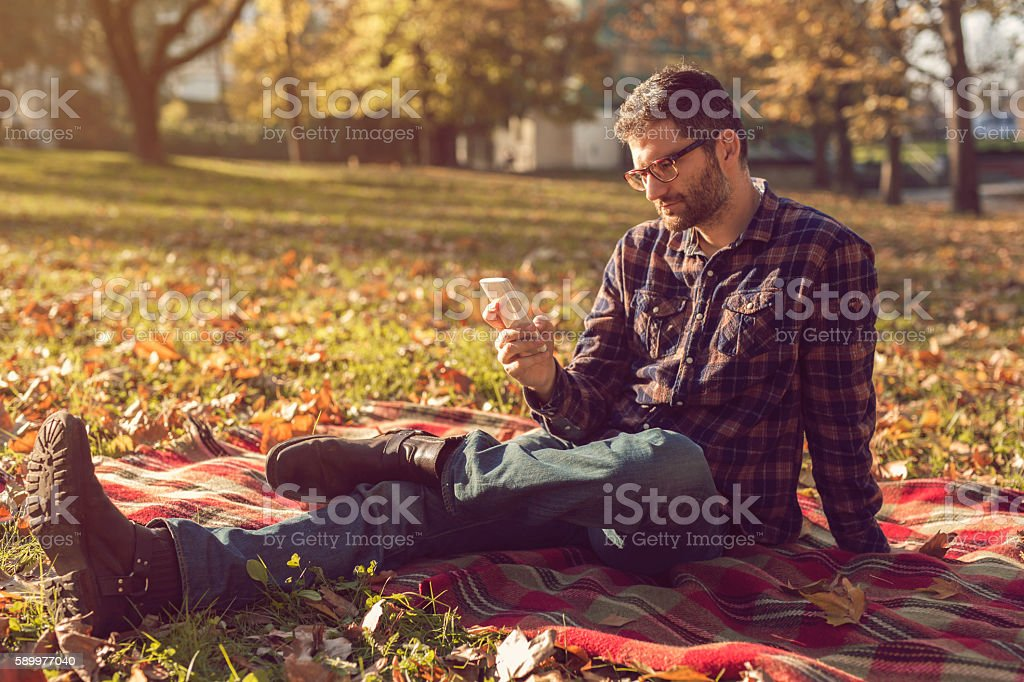 Autumn, casual day stock photo