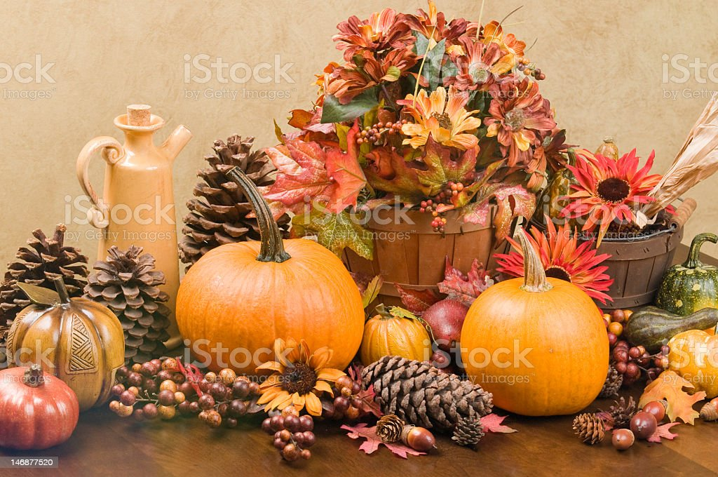 Autumn centerpiece royalty-free stock photo