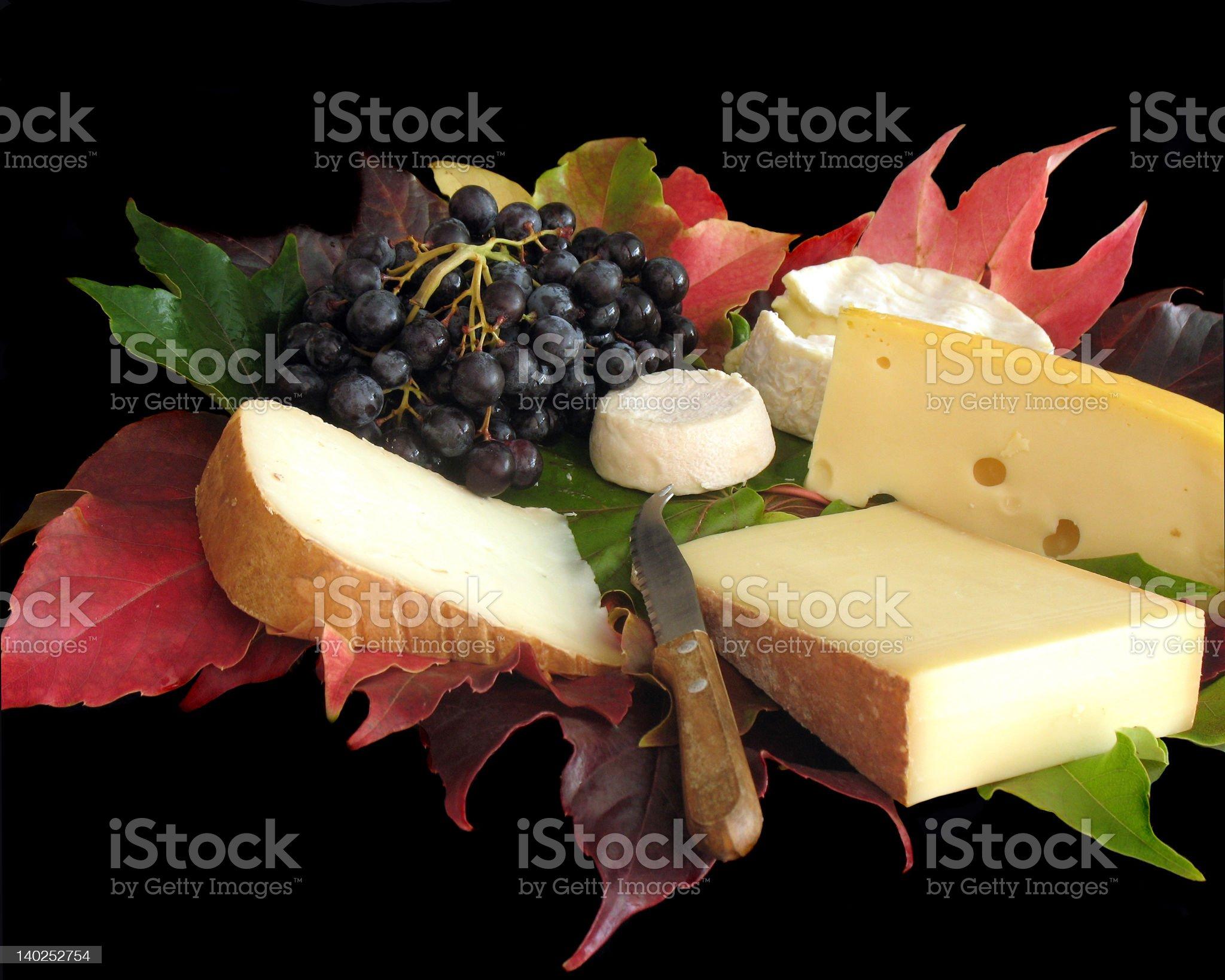 Autumn cheese platter royalty-free stock photo