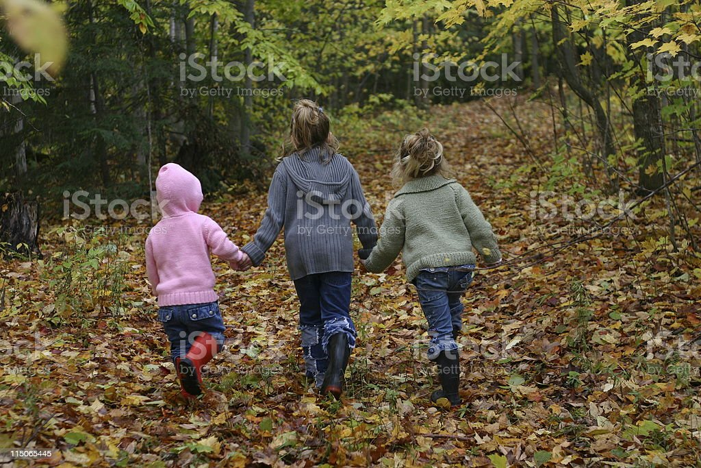 Autumn Children stock photo