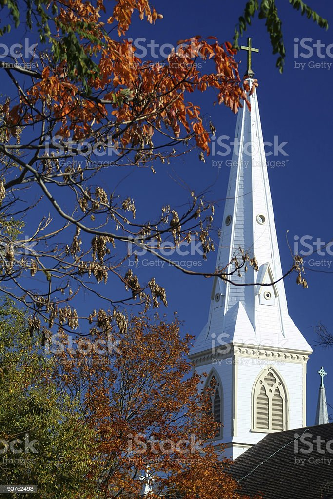 Autumn Church royalty-free stock photo