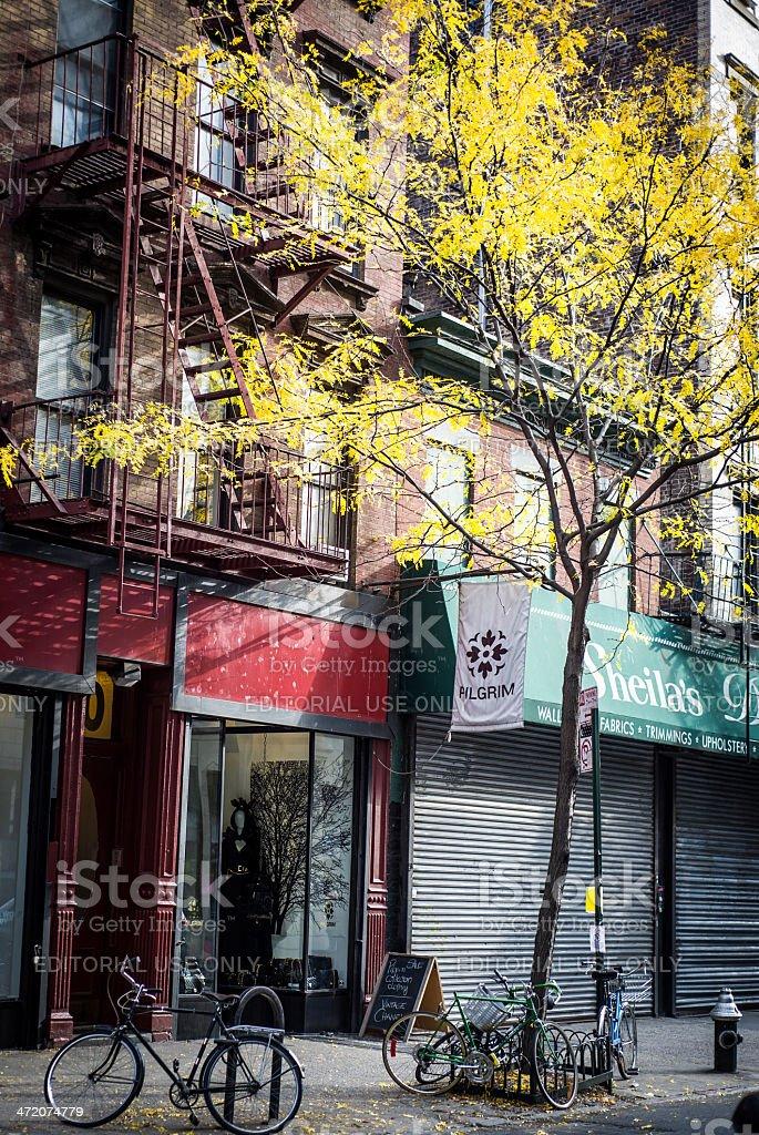 Autumn City Scene stock photo