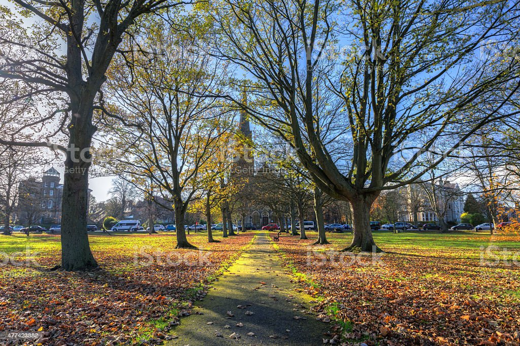 Autumn city view of Harrogate in North Yorkshire England stock photo
