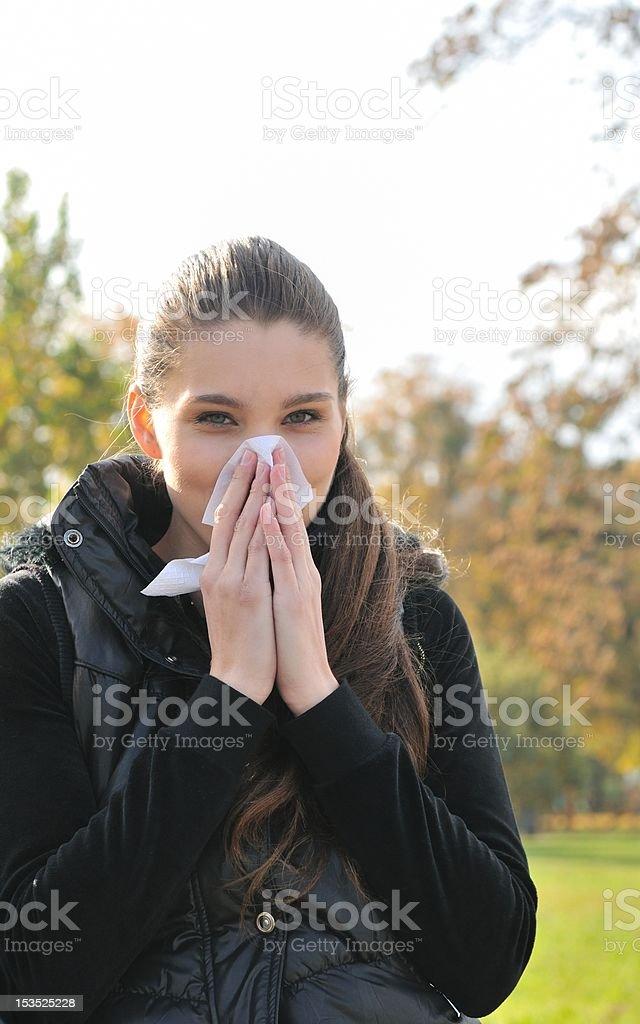 Autumn cold royalty-free stock photo