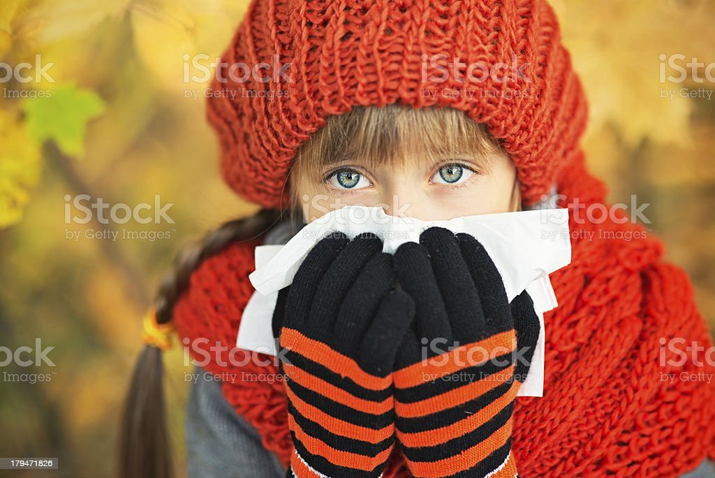 Autumn cold royalty-free stock photo
