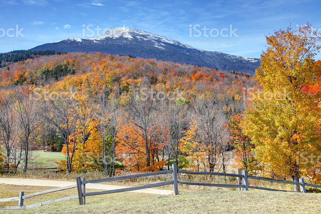 Autumn Color in the White Mountains of New Hampshire stock photo