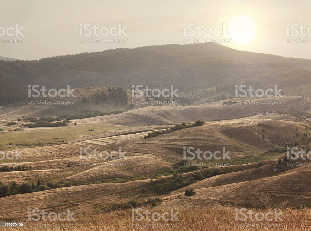 autumn colored landscape royalty-free stock photo