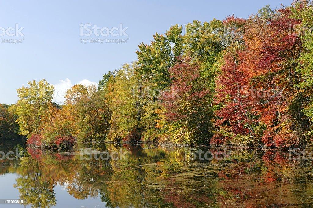 Autumn Colors at Hidden Lake stock photo