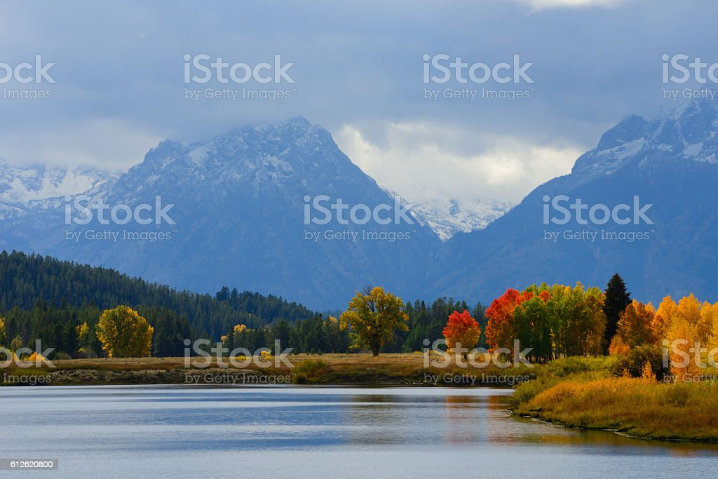 Autumn Colors at Oxbow Bend Wyoming USA 3 stock photo