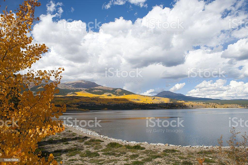 Autumn Colors of Mount Elbert Forebay royalty-free stock photo