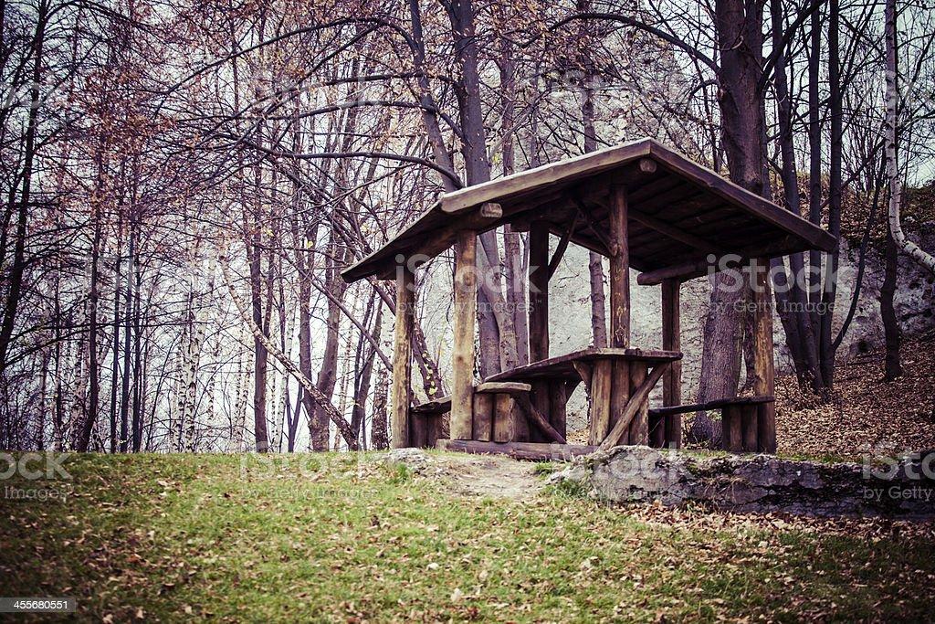 Autumn colors rural landscape near Ogrodzieniec, Poland royalty-free stock photo