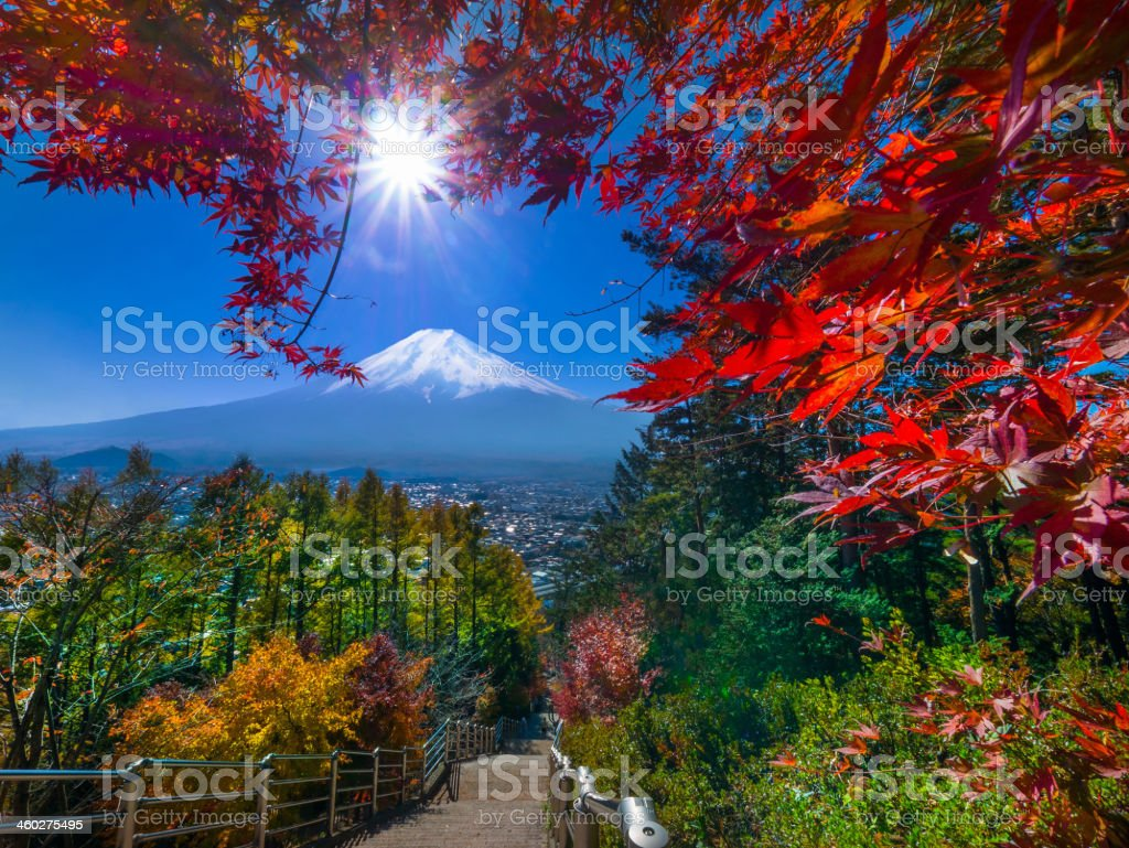 Autumn colour in Japan stock photo
