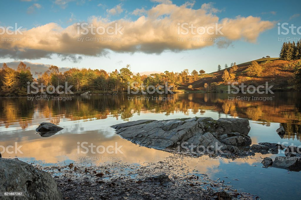 Autumn Colours at Tarn Hows. stock photo